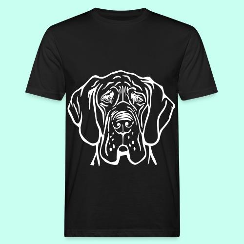 Die denkende Dogge - Männer Bio-T-Shirt