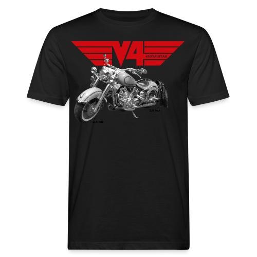 V4 Motorcycles red Wings - Männer Bio-T-Shirt