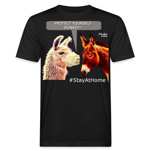 Protect Yourself Donkey - Coronavirus - Camiseta ecológica hombre
