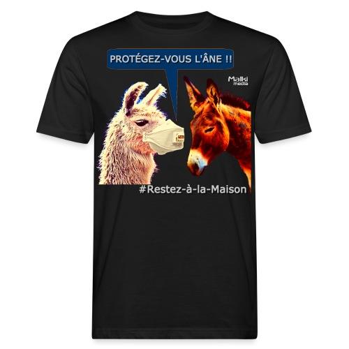 PROTEGEZ-VOUS L'ÂNE !! - Coronavirus - T-shirt bio Homme