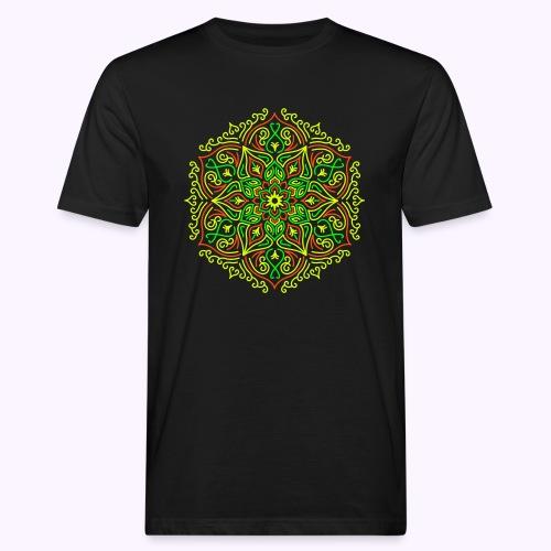 Fire Lotus Mandala - Mannen Bio-T-shirt