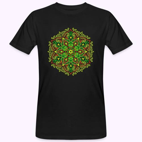 Fire Lotus Mandala - T-shirt ecologica da uomo