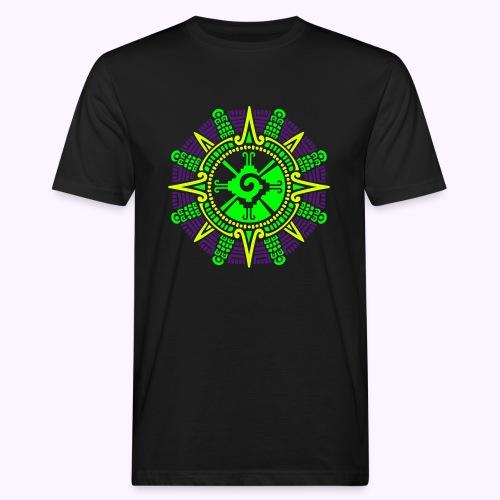 Piedra lunar maya de Hunab Ku - Camiseta ecológica hombre