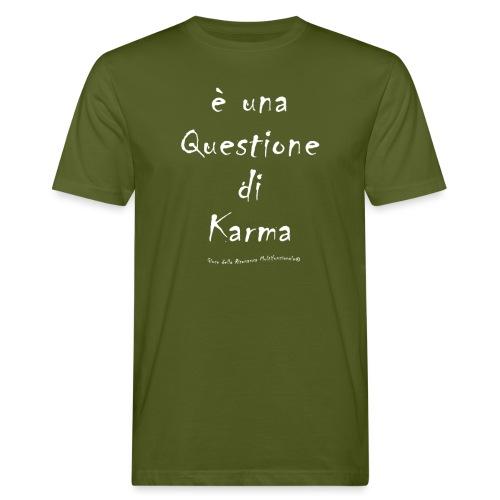 questione di Karma Bianco - T-shirt ecologica da uomo