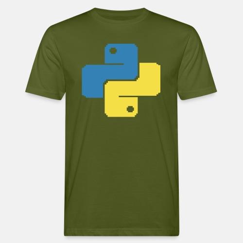 Python Pixelart - Men's Organic T-Shirt