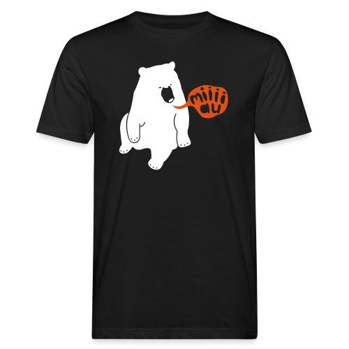 Bär sagt Miau - Männer Bio-T-Shirt