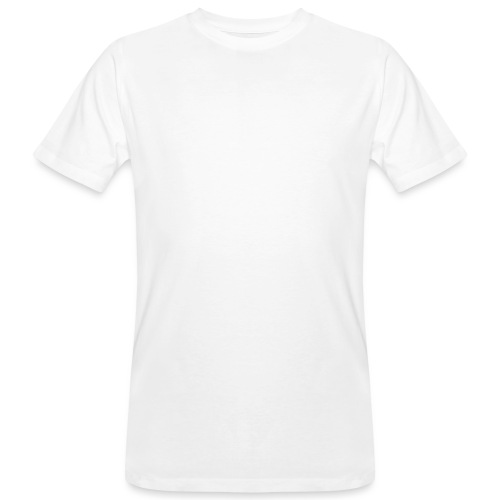 mubo logo Word White - Men's Organic T-Shirt