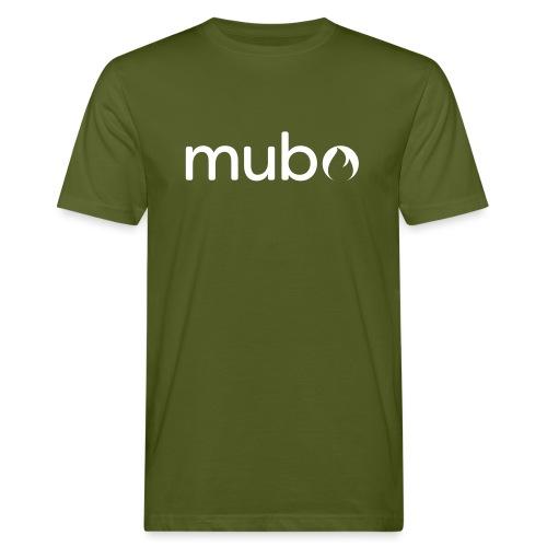 mubo logo Word White - Men's Organic T-Shirt