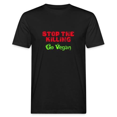 Stop The Killing - Go Vegan - Männer Bio-T-Shirt