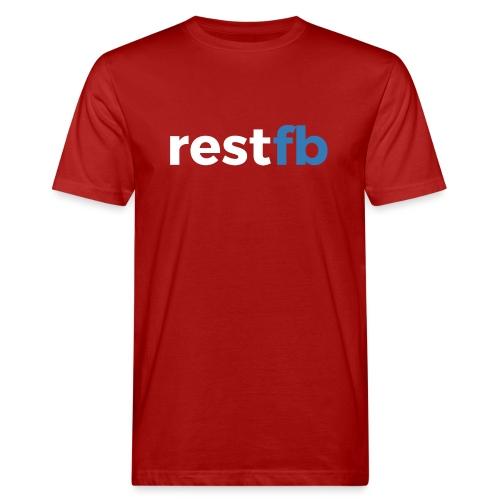 RestFB logo white - Men's Organic T-Shirt