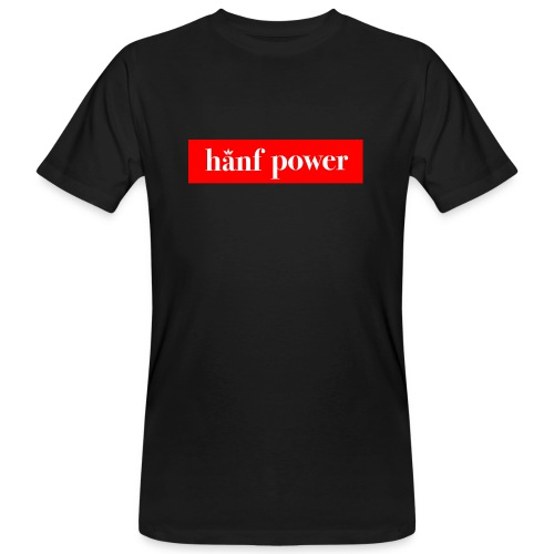 Hanf Power RED - Männer Bio-T-Shirt
