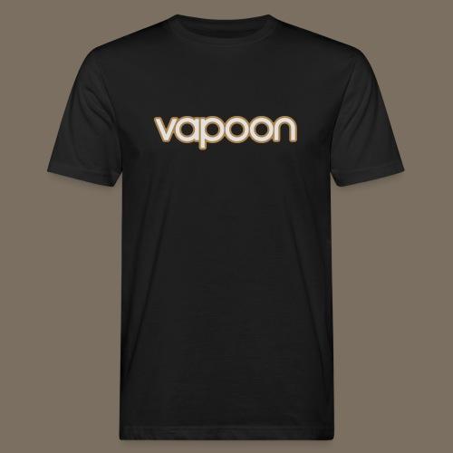 Vapoon Logo simpel 2 Farb - Männer Bio-T-Shirt