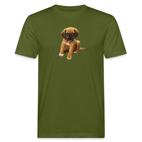 Süsses Haustier Welpe - Männer Bio-T-Shirt