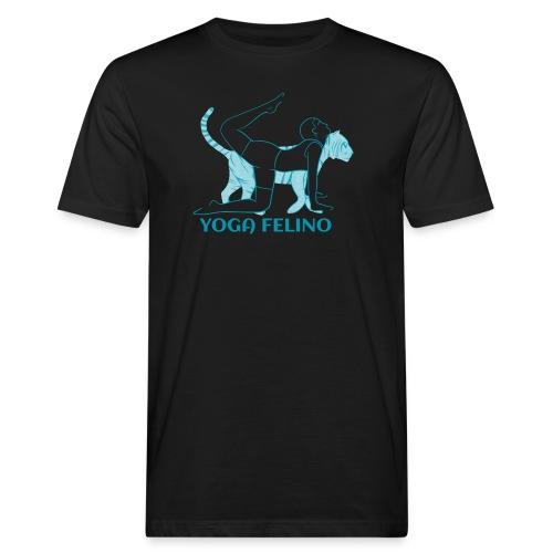 t shirt design YOGA FELINO - T-shirt ecologica da uomo