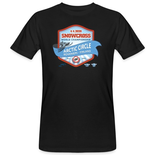 MM Snowcross 2020 virallinen fanituote - Miesten luonnonmukainen t-paita