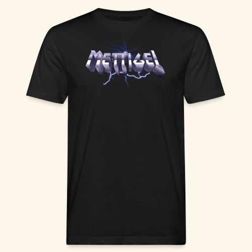 Mettigel T Shirt Design Heavy Metal Schriftzug - Männer Bio-T-Shirt