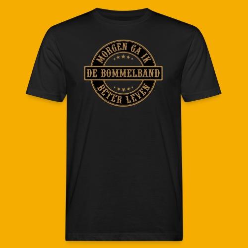 bb logo rond shirt - Mannen Bio-T-shirt