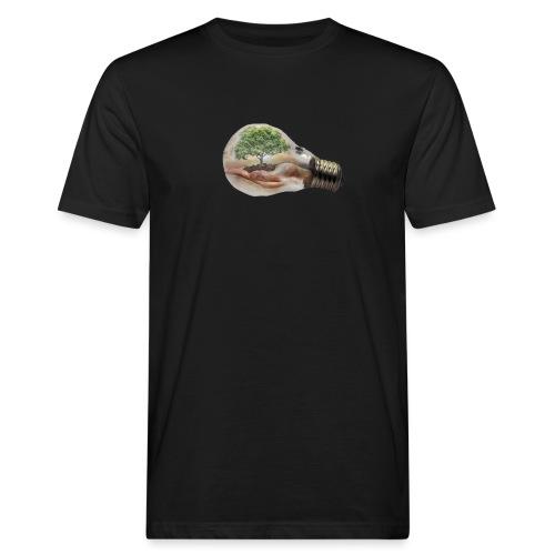 Baum und fliege in einer Glühbirne Geschenkidee - Männer Bio-T-Shirt