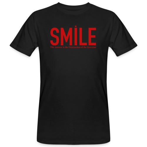 smile red star - Männer Bio-T-Shirt