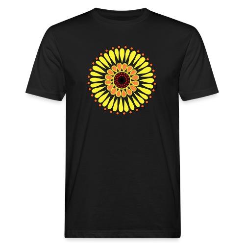 Yellow Sunflower Mandala - Men's Organic T-Shirt