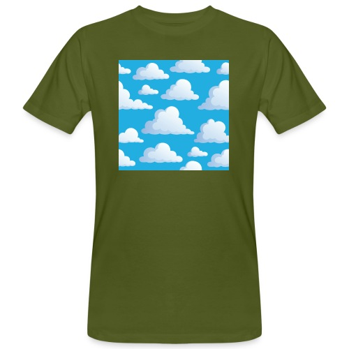 Cartoon_Clouds - Men's Organic T-Shirt