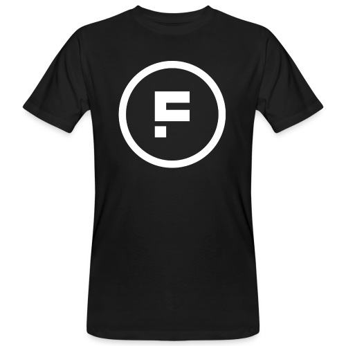 Logo Rond Wit Fotoclub - Mannen Bio-T-shirt