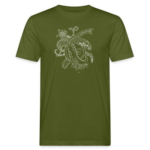 Fantasia valkoinen scribblesirii - Miesten luonnonmukainen t-paita