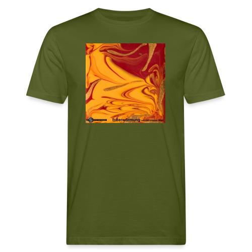 TIAN GREEN Mosaik DE102 - Erderwärmung zerstört .. - Männer Bio-T-Shirt