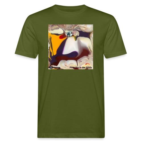 TIAN GREEN Mosaik DE104 - Pinguine in der Arktis - Männer Bio-T-Shirt
