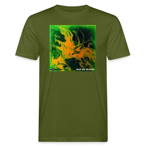 TIAN GREEN Mosaik DE002 - Welt der Wunder - Männer Bio-T-Shirt