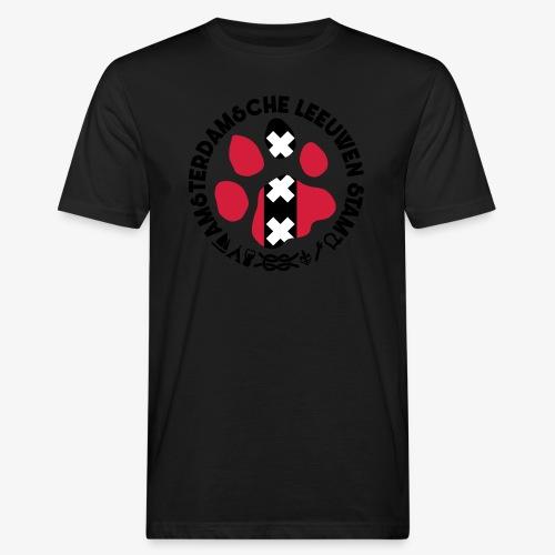 ALS witte cirkel lichtshi - Mannen Bio-T-shirt