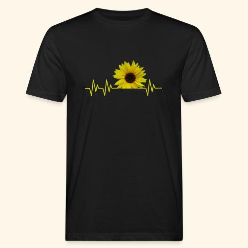 sunflowerbeat - zauberhafte Sonnenblume - Männer Bio-T-Shirt