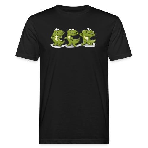 Nice krokodile - Männer Bio-T-Shirt