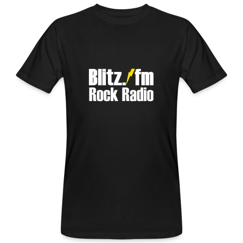 BLITZ FM TSHIRT Schwarz - Männer Bio-T-Shirt