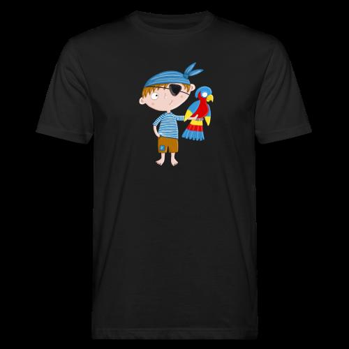 Kleiner Pirat mit Papagei - Männer Bio-T-Shirt