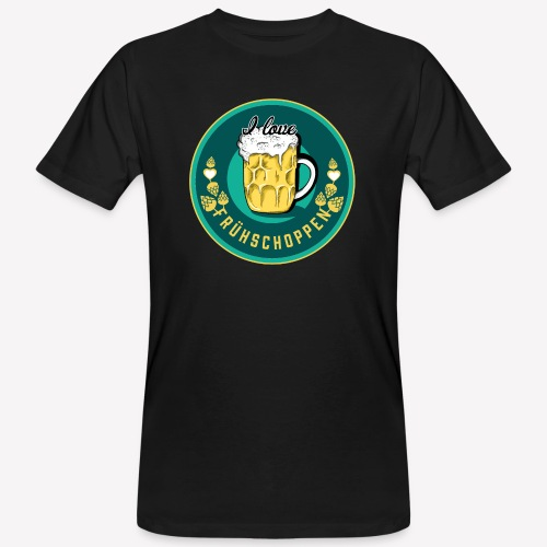 I love Frühschoppen - Männer Bio-T-Shirt