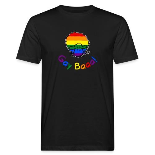 Homosexuell Baaa! Pride Sheep (schwarze Ausgabe Regenbogentext) - Männer Bio-T-Shirt