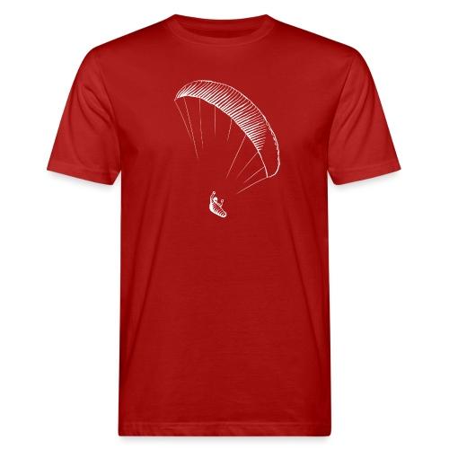 paraglider gerlitzen weiss - Männer Bio-T-Shirt