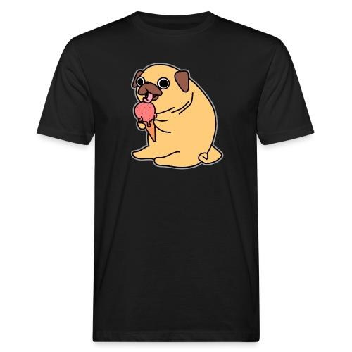 Mops mit Eis - Männer Bio-T-Shirt