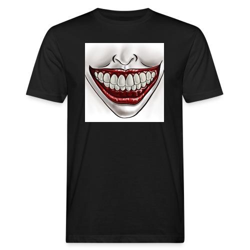 Smile Maske - Männer Bio-T-Shirt