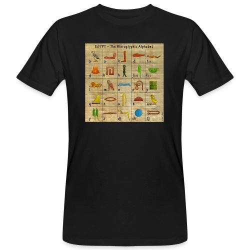 The Hieroglyphic Alphabet - Männer Bio-T-Shirt