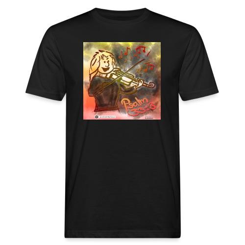 Design Geige Psalm 33 Vers 3 - auf Kleidung - Männer Bio-T-Shirt