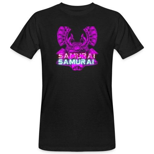 Cuberpunk samurai asian bushido shogun fighter - Ekologiczna koszulka męska