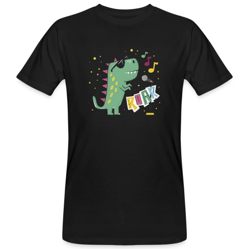 DINO MUSIC 1 - Camiseta ecológica hombre