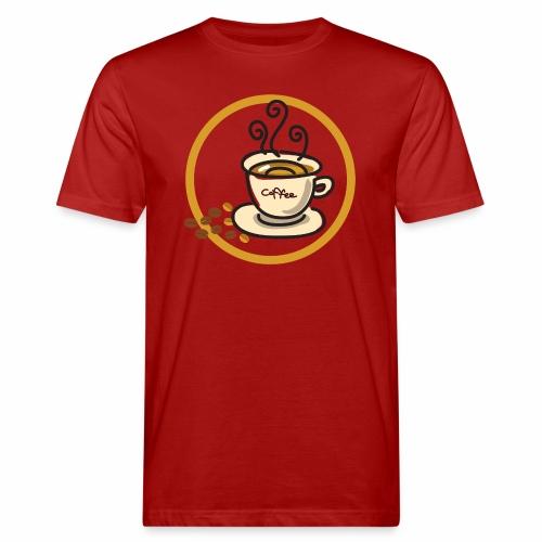 Kaffeeemblem - Männer Bio-T-Shirt