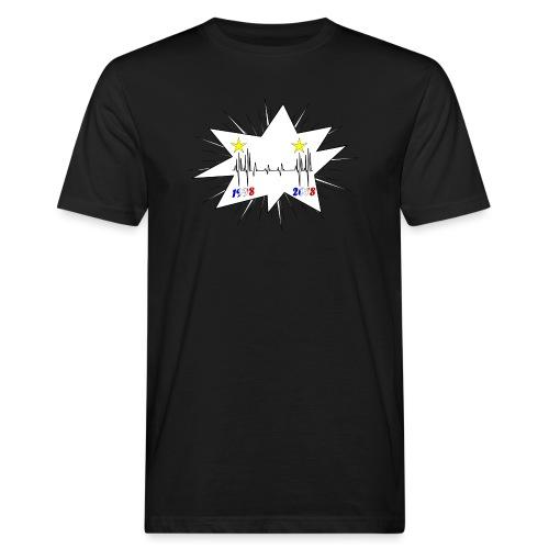 coupe du monde 2018 électrocardiogramme les bleus - T-shirt bio Homme