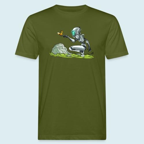 funny robot - T-shirt ecologica da uomo