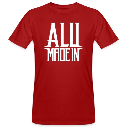 logo_alumadein_vecto_blan - T-shirt bio Homme