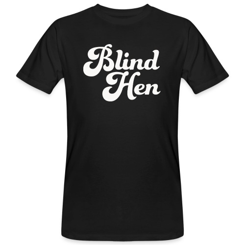 Blind Hen - Logo T-shirt, slim fit, black - Men's Organic T-Shirt