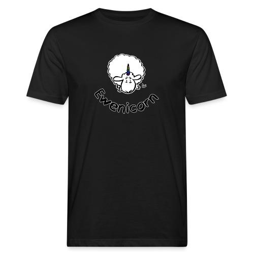 Ewenicorn (svart utgave svart tekst) - Økologisk T-skjorte for menn